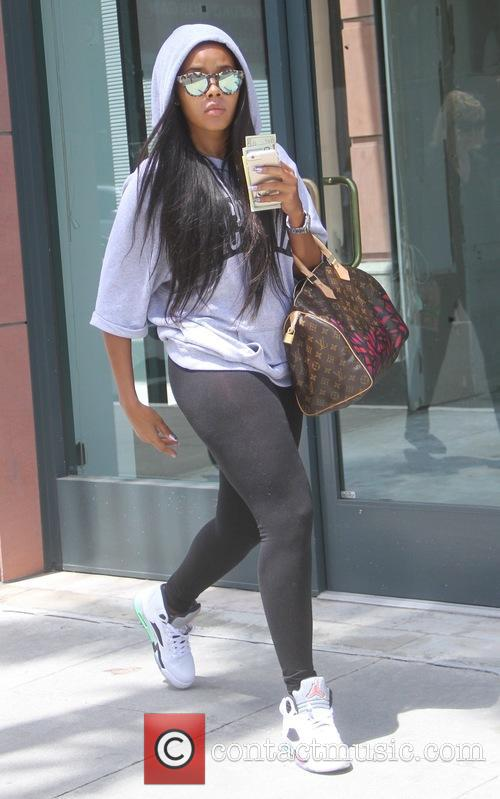 Angela Simmons visits a gym in Beverly Hills