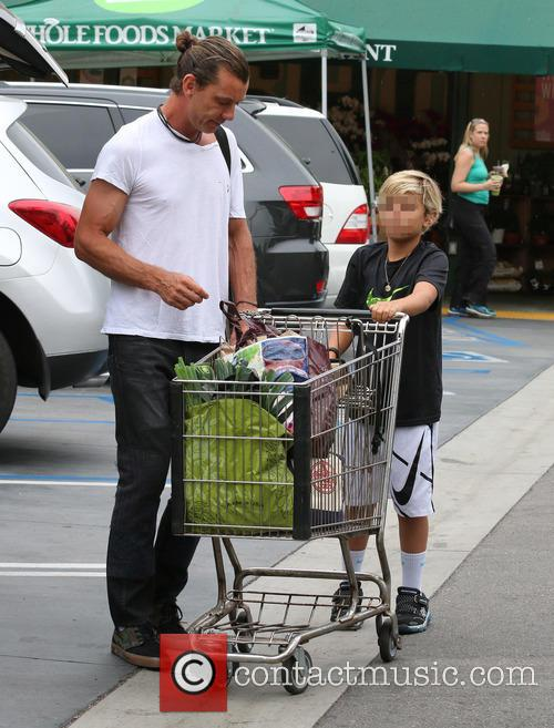 Gavin Rossdale leaves Whole Foods with his son...