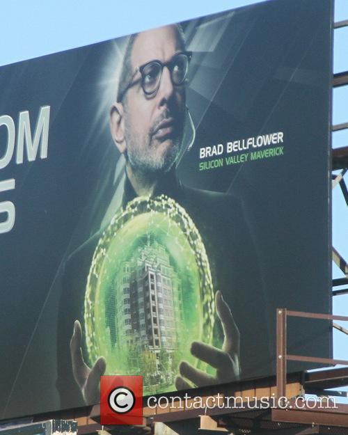 Jeff Goldblum appears on an Apartments.com advertising billboard