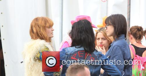 Florence Welsh, Pixie Geldof and Daisy Lowe 7