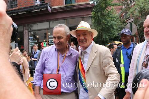 Senator Chuck Schumer and Sir Ian Mckellen 5