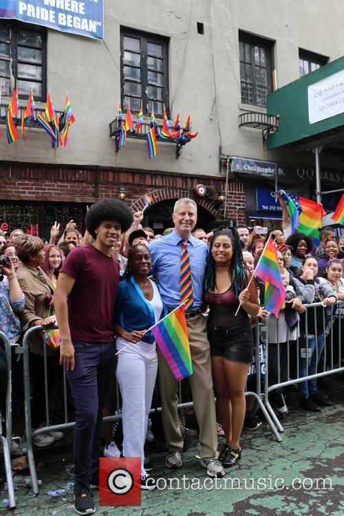 Stonewall, Mayor Bill De Blasio, Chirlane Mccray, Chiara De Blasio and Dante De Blasio 2