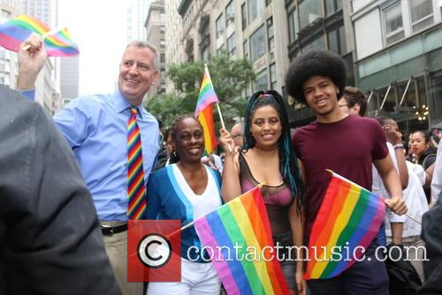 Mayor Bill De Blasio, Chirlane Mccray, Chiara De Blasio and Dante De Blasio 2