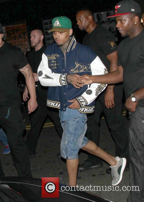 Chris Brown leaves BET party at Playhouse