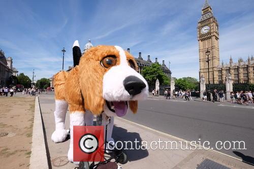 Big beagle arrived in Parliament Square