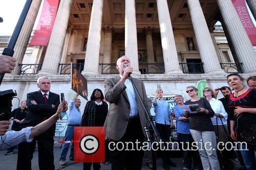 Jeremy Corbyn, Owen Jones, Diane Abbott, Caroline Lucas and John Mcdonnell 1