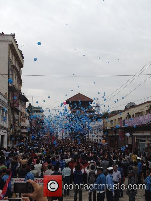 Nepal, Commemorate Earthquake Victims With and Balloon Ceremony 2