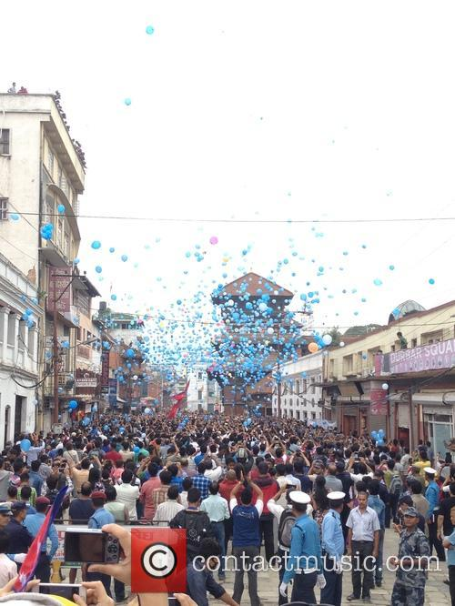 Nepal, Commemorate Earthquake Victims With and Balloon Ceremony 3