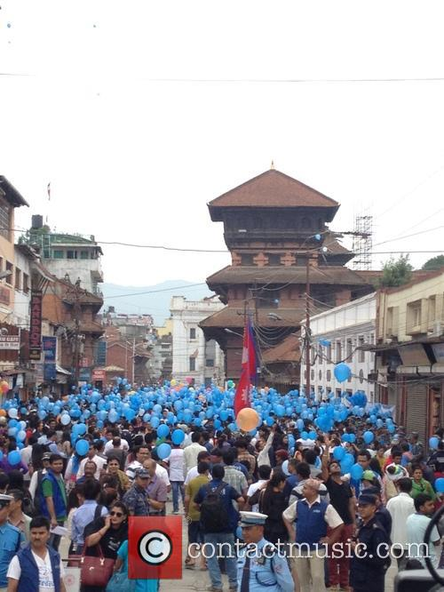 Nepal, Commemorate Earthquake Victims With and Balloon Ceremony 1