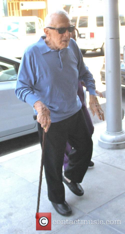 Kirk Douglas goes to the doctors office
