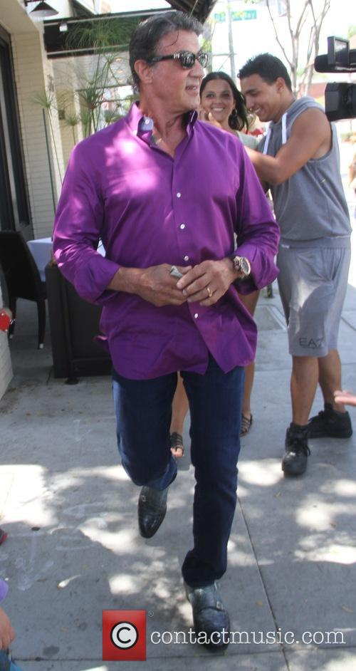 Sylvester Stallone grabs lunch at The Palms in...