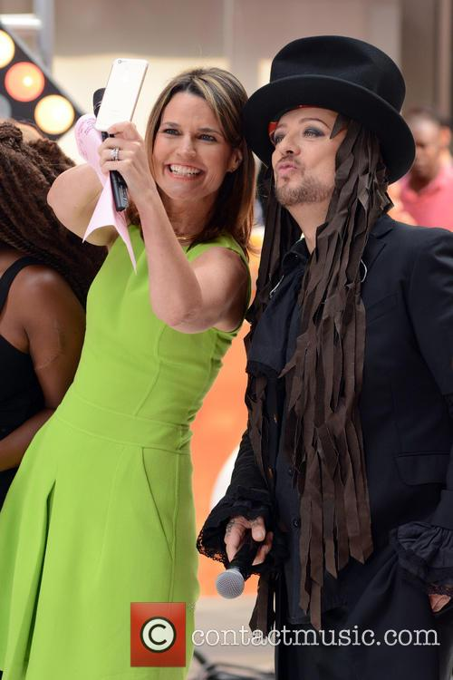 Savannah Guthrie and Boy George 2