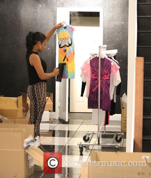 Christina Milian inside her new store We Are...