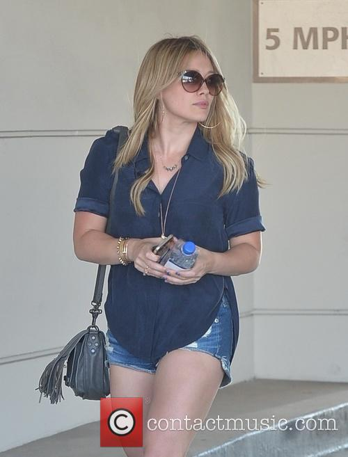 Hilary Duff spotted out on Santa Monica Boulevard...