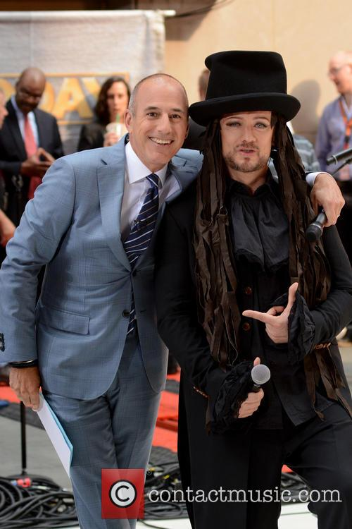Matt Lauer and Boy George 1