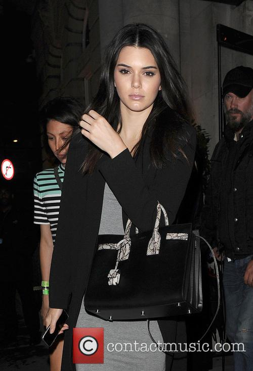Kendall Jenner leaves her hotel headed to The...