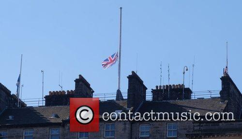 Flags on the Edinburgh City Council Chambers were...
