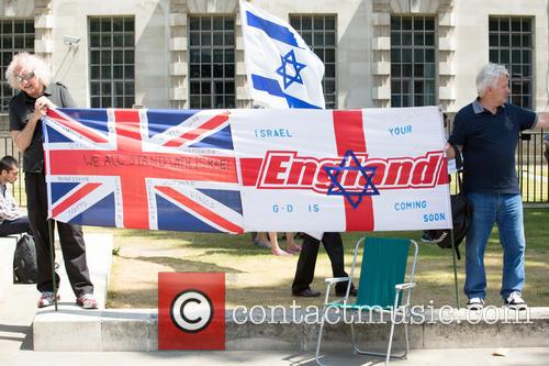 Anti Semitic Protest held in Whitehall