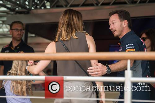 Mel C, Daughter and Christian Horner 2