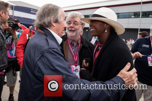 Sir Jackie Stewart, George Lucas and Mellody Hobson 2