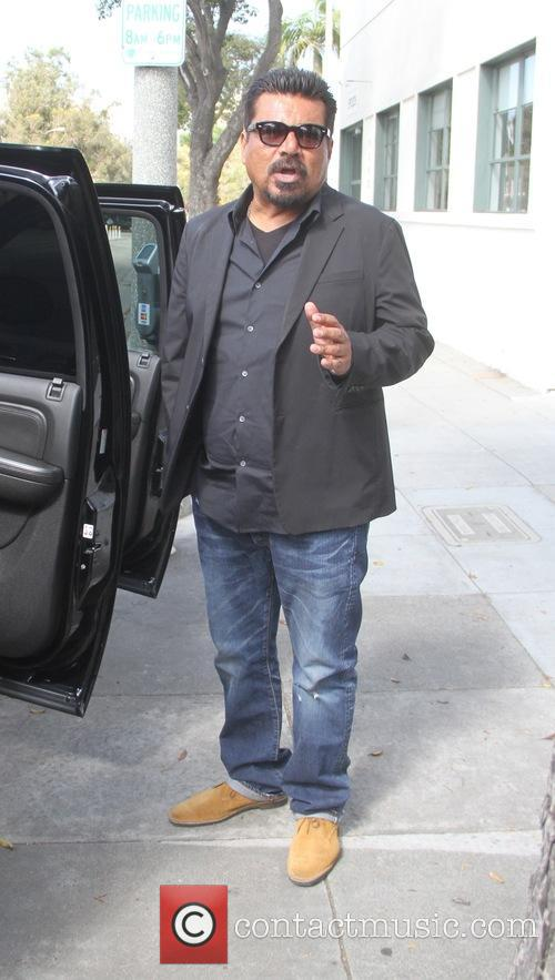 George Lopez goes shopping in Hollywood