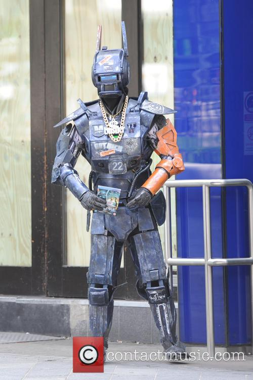 A person dressed as Chappie at Global Radio