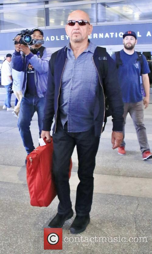 Sir Ben Kingsley arrives at Los Angeles International...