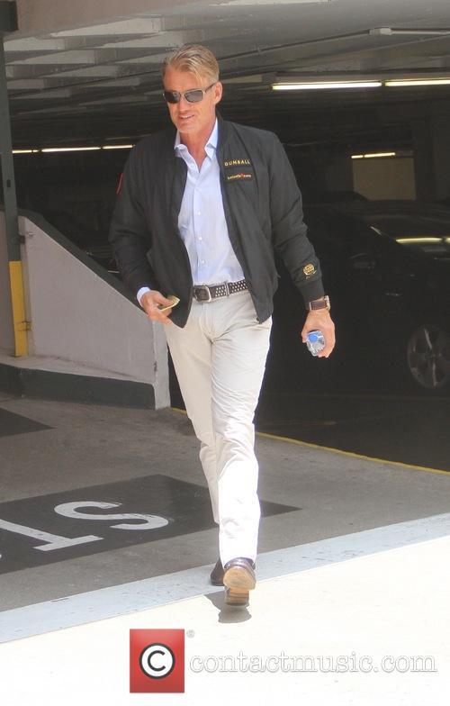 Dolph Lundgren out and about running errands