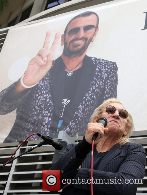Birthday fan gathering for Ringo Starr's 75th and...