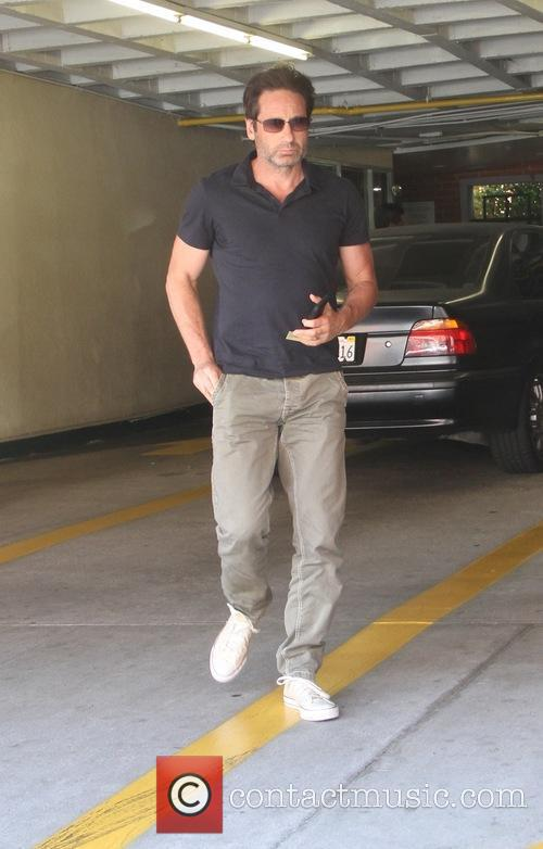 David Duchovny running errands in Beverly Hills
