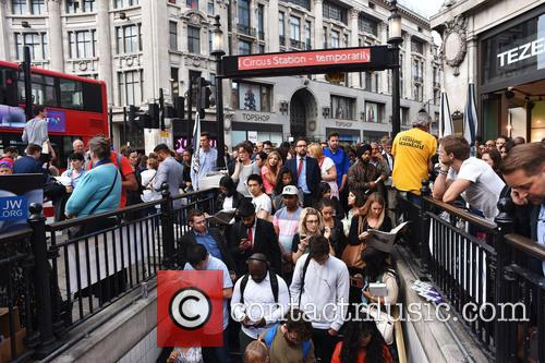 London Underground Tube Strike at Oxford Circus