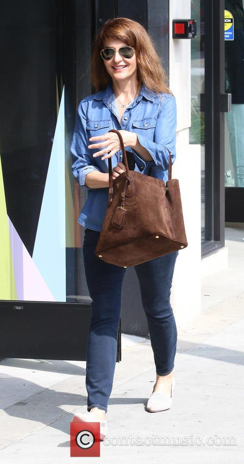 Nia Vardalos out shopping at Sandro
