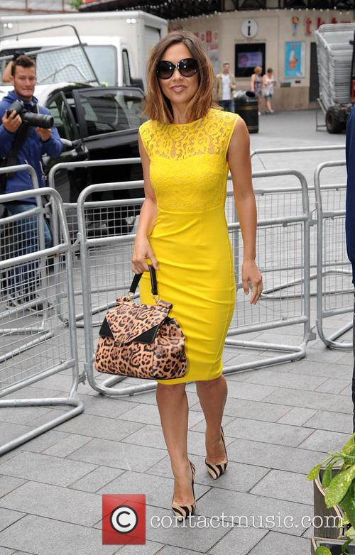 Myleene Klass at Global Radio studios