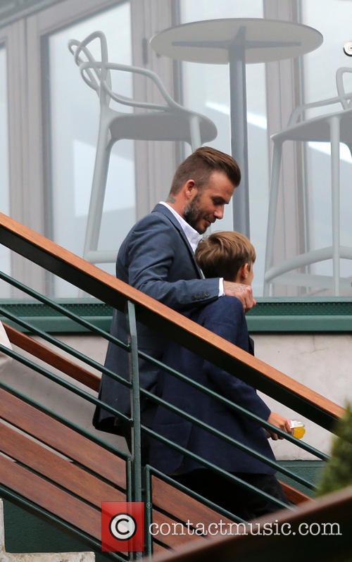 David Beckham and Romeo Beckham 2