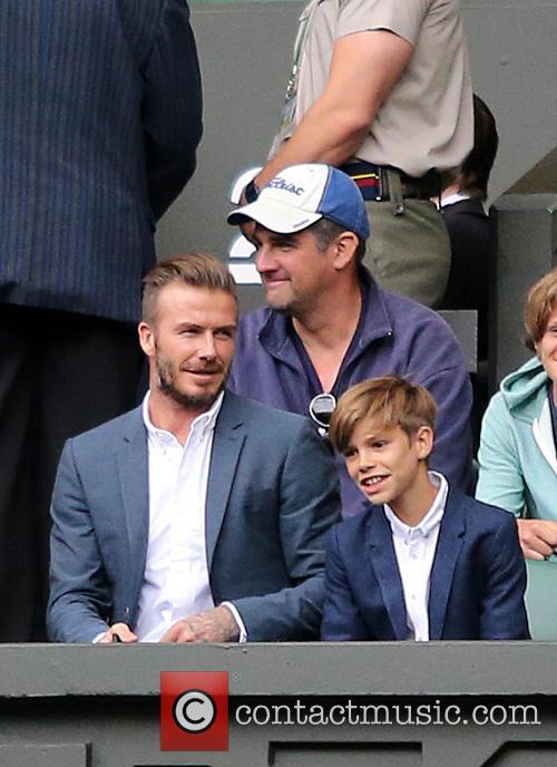 David Beckham and Romeo Beckham 4