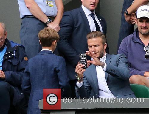 David Beckham and Romeo Beckham 1