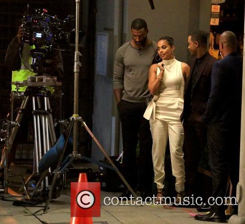 Lauren London, Terrence Jenkins and Donald Faison