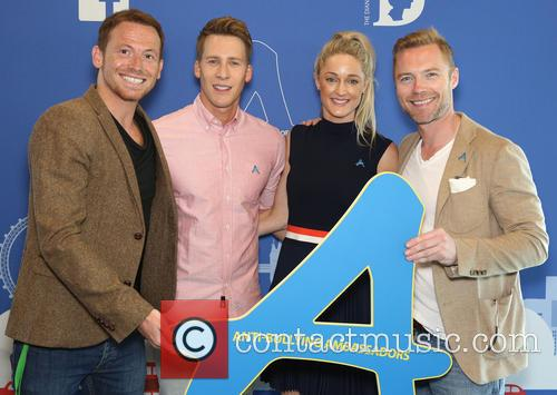 Joe Swash, Ronan Keating and Storm Uechtritz 2