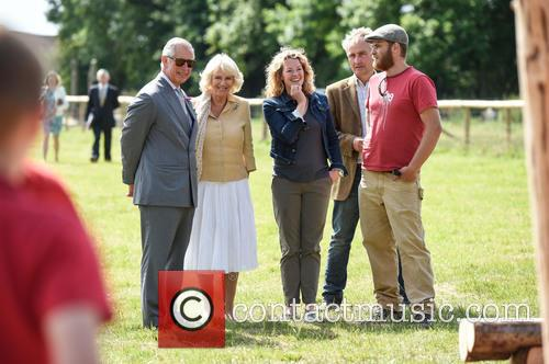 Atmosphere, Duchess Of Cornwall, Camilla, Prince Charles, Kate Humble and Ludo Graham 7