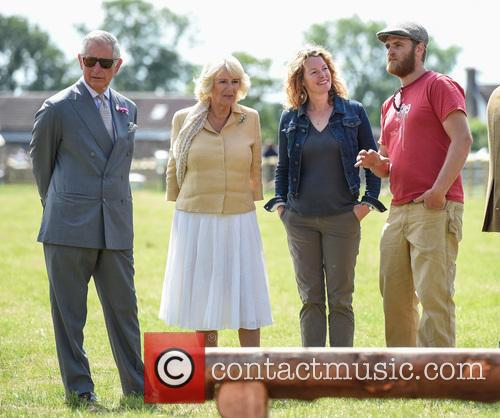 Atmosphere, Duchess Of Cornwall, Camilla, Prince Charles, Kate Humble and Ludo Graham 9