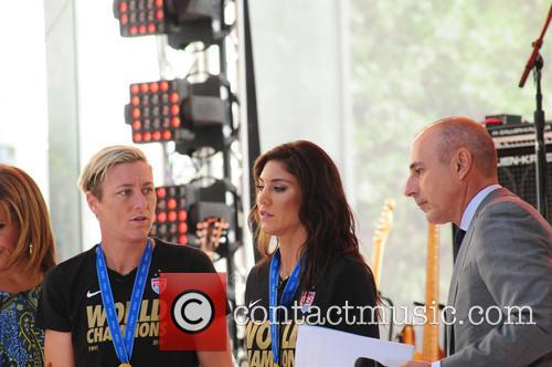 Abby Wambach, Hope Solo and Matt Lauer 2