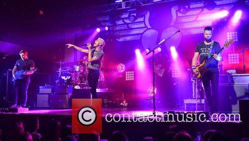 Neon Trees, Chris Allen, Elaine Bradley, Tyler Glenn and Branden Campbell 2