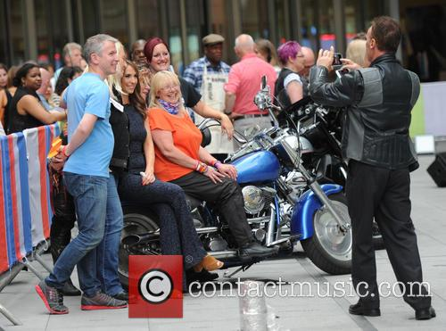 Chris Evans filming his last 'One Show' episode...