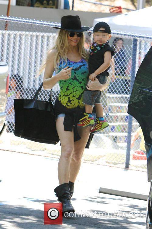 Fergie and her son Axl out shopping in...