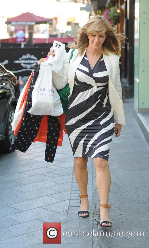 Kate Garraway out in London