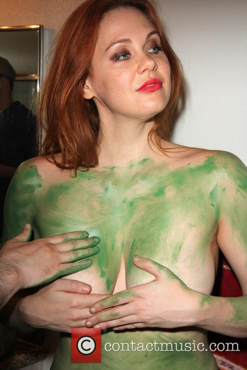 Maitland Ward is painted green for her 'Orion...