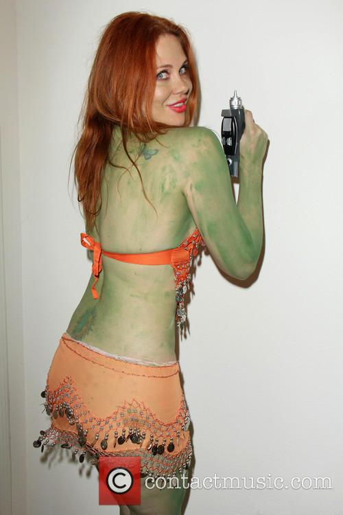 Maitland ward maitland ward is painted green for her for Comic con body paint