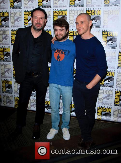 Paul Mcguigan, James Mcavoy and Daniel Radcliffe