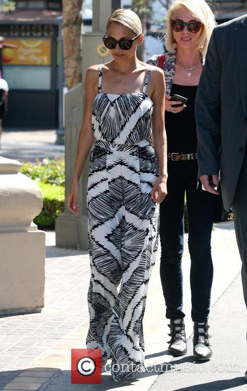 Nicole Richie arriving at her Pop-up store at...