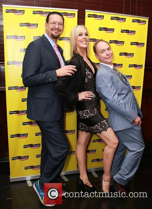 Penn Jillette, Georgie Bernasek and Teller 3